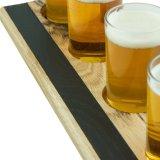 Reeks van de Vlucht van het Bier van het Dienblad van de Glazen van het bier de Houten