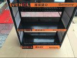 Salvar el soporte de visualización automotor modificado para requisitos particulares de las fuentes del coche del estante del metal de los lubricantes