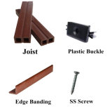 Un revêtement de sol extérieur en bois Composite Decking Cheap imperméable en plastique WPC