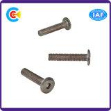 DIN/ANSI/BS/JIS Carbon-Steel/Stainless-Steel interior de acero galvanizado de cabeza plana hexagonal tornillos mecánicos/Muebles
