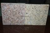 Barato China Amarelo Mosaico de granito de grão irregular em pavimentações/parede/casa de banho equipada