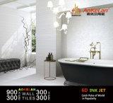 azulejo de cerámica interior esmaltado de la pared del diseño moderno de 300X900m m