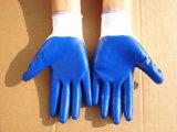 Polyester-Shell-Sicherheits-Arbeits-Handschuhe mit dem Nitril beschichtet