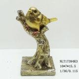 Статуя на ветви вала, оптовая изготовленный на заказ статуя птиц животных смолаы птицы для украшения