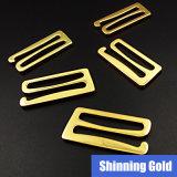 El gancho de leva del metal del oro de la aleación del traje de baño 30m m en muestras libera