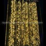 La décoration de festival de rideau allume la lumière de chaîne de caractères de cascade à écriture ligne par ligne de DEL