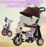 Driewieler van de Baby van de Kinderen van de fabriek de Goedkope met de Staaf van het Handvat