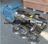 2800rpm alta em linha de aço inoxidável homogeneizador de cisalhamento batedeira