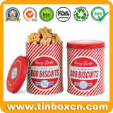 Dog Biscuit Tin Can for Pet Food Cookies Packaging Box