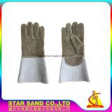Защитная перчатка, кожаный перчатка работы, перчатка коровы Split