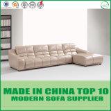 Cuero contemporáneo moderno L muebles del sofá de la dimensión de una variable