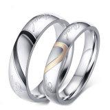 Ringen van de Strook van de Gift van de Dag van de Valentijnskaart van het Huwelijk van de Juwelen van de manier de Vastgestelde