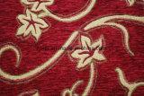 Tessuto da arredamento rosso del reticolo del jacquard del Chenille