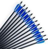 """4 """"人および女性のためのTPUのベーンおよび先端の/Replacedの矢印が付いている石弓のためのハンチングカーボンアーチェリーの矢20inch Od8.8mm"""