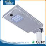 12W tutto in un indicatore luminoso della via LED con il comitato solare