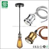 E27 nam de Uitstekende Lichte Tegenhanger van de Houder van de Lamp Matel met Plafond toe