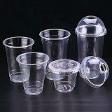주문을 받아서 만들어진 PP 애완 동물 플라스틱 명확한 투명한 인쇄 로고 주스 컵