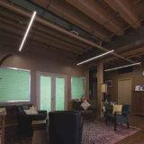 引込められたLEDの棒状螢光灯による照明カバープロフィールアルミニウム