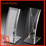 De madera portátil+Pantalla de cristal de escaparate para joyería