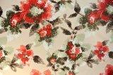 Materia textil hecha punto impresa floral de la tela del terciopelo polivinílico 2016