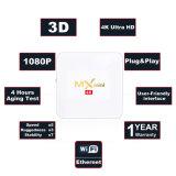 MXmini weißer Android IPTV Fernsehapparat-Kasten S905X 2g DDR 16g Emmc 4K mit Netflix 2.4G WiFi Fernsehapparat-Kasten 2017 Media Player