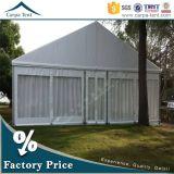 販売のためのカーテンが付いている贅沢な玄関ひさし12mx21mの白いパビリオン