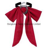Chiffon Bowknot Necklace pour les femmes de la chaîne de cou élégante Rhinestone Décoration de la jupe le filtre Bow Tie (FR-07)
