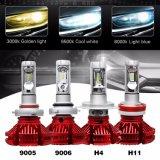Temperatura de Cor de várias luzes de nevoeiro de condução 9005 X3 Lâmpada LED