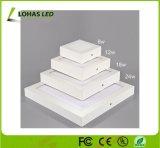 3W 6W 9W 12W de iluminación del panel de LED redonda cuadrada