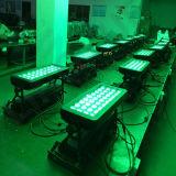 36PCS RGBW 4NO1 Arruela de parede LED cor da cidade ao ar livre