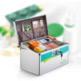 Prata Multi-Functional da caixa da medicina do jogo de primeiros socorros do Portable R8030