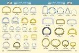 Anneau de métal de fer Dee pour sac à main& Vêtement accessoires en métal