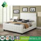주문품 백색 현대 나무로 되는 호텔 가구 침실 침대 프레임 (ZBS-865)