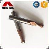 Do nariz padrão da esfera da boa qualidade HRC58 ferramentas de trituração com 2 flautas
