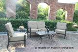 鋳造アルミの優雅なLoveseatの雑談のグループの庭の家具