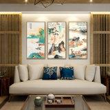 Illustration d'art de mur de peinture de toile de pétrole d'horizontal de 3 panneaux pour la maison, bureau, décoration d'hôtel