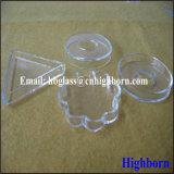 Dienblad van het Bloemblaadje van het Glas van het Kwarts van de hoge Zuiverheid het Duidelijke