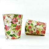 Taza de té de un sólo recinto del papel de la flor 12oz