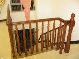 Escadaria elegante da faia da madeira contínua do PVC para a cerca do balcão