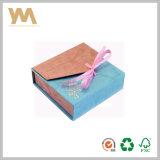Rectángulo de papel del regalo popular del diseño con la cinta