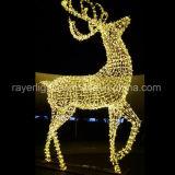 Decoração da iluminação do cavalo de vôo da luz do motivo da decoração do Natal do diodo emissor de luz grande