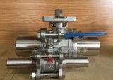 Edelstahl verlängern Kolben-Schweißens-manuelles 3PCS Kugelventil