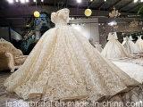 weg Schulter-vom Brautballkleid-Spitze-Kristall, der Hochzeits-Kleid Yao113 bördelt