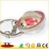 Qualitäts-runde Form-drehbare Metallzink-Legierung Keychain