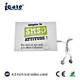 Cartão video do calendário do LCD com o fone de ouvido