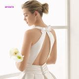 Traditionnel une ligne robe de mariage avec la poche latérale, ceinture de proue