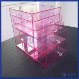 Produit de beauté en cristal clair d'acrylique d'organisateur de renivellement de tiroirs d'étalage