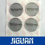 Forme ronde dôme transparent des autocollants, résine PU autocollants