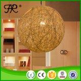 Hauptwaren-modernes Euroweinlese-Rattan-Kugel-hängende Lampen-Licht