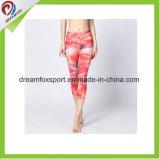 لياقة لباس نساء نظام يوغا لباس صنع وفقا لطلب الزّبون نظام يوغا [لغّينغس] مع طباعة